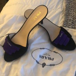 Vintage suede Prada sandals